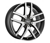 5X112 16X6.5 ET54 MSW 28 Black Full Polished 66,6
