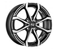 4X108 14X5.5 ET24 MSW X4 Black Full Polished 65,1