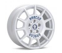 4X108 16X7 ET25 SPARCO TERRA White Blue Lettering 65,1
