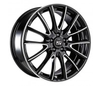 4X108 15X6 ET22 MSW 86 Black Full Polished 65,1